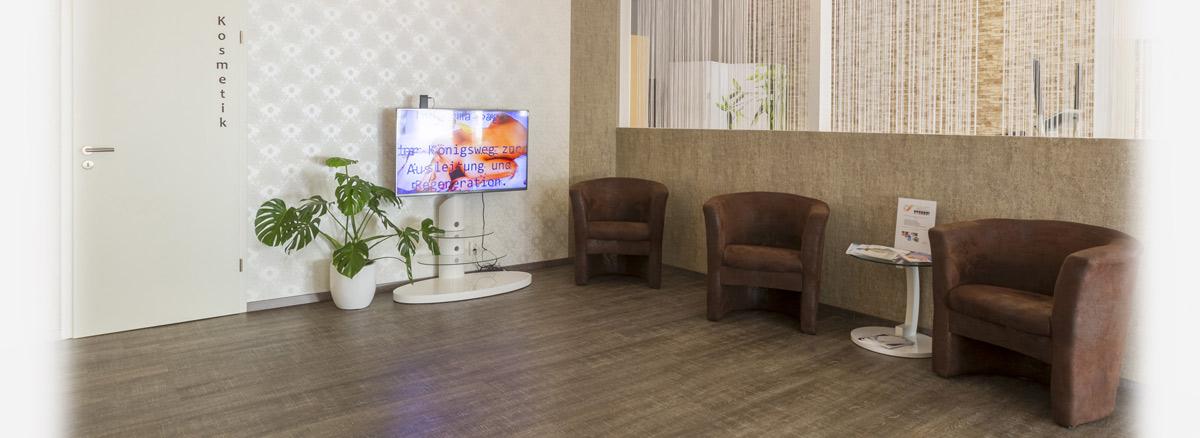 Wartezimmer in der MedExpert Praxis Hannover