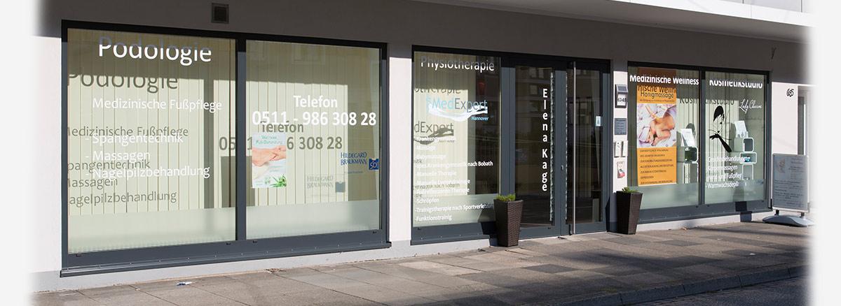 Außenansicht der MedExpert Praxis in Hannover