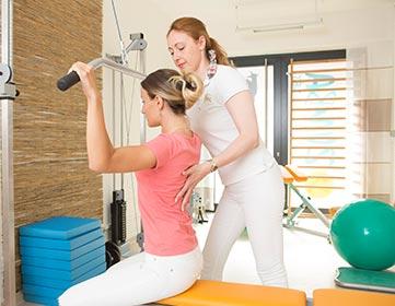 Physiotherapie Rückenübung